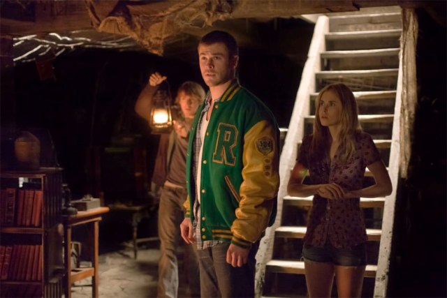 Anna-Hutchison-Fran-Kranz-and-Chris-Hemsworth-in-Cabin-in-the-Woods-2011
