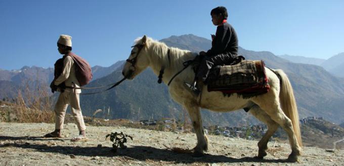 Kalo Pothi, un pueblo de Nepal 2015
