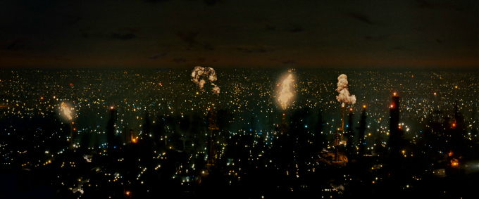 Blade-Runner noir futurista