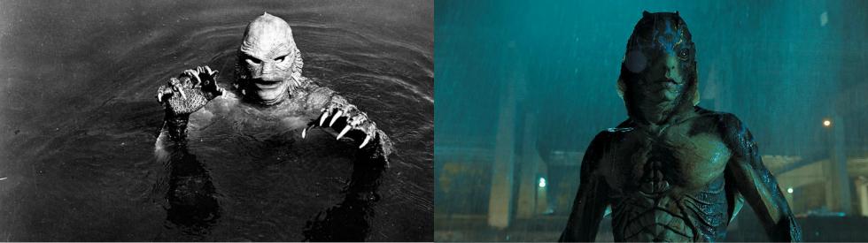 Collage criatura lago
