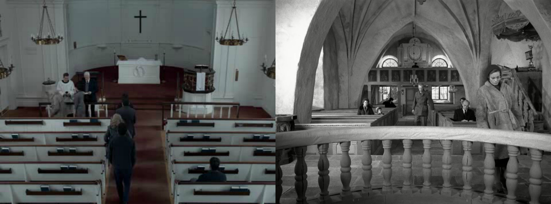 Collage First Reformed - Los comulgantes